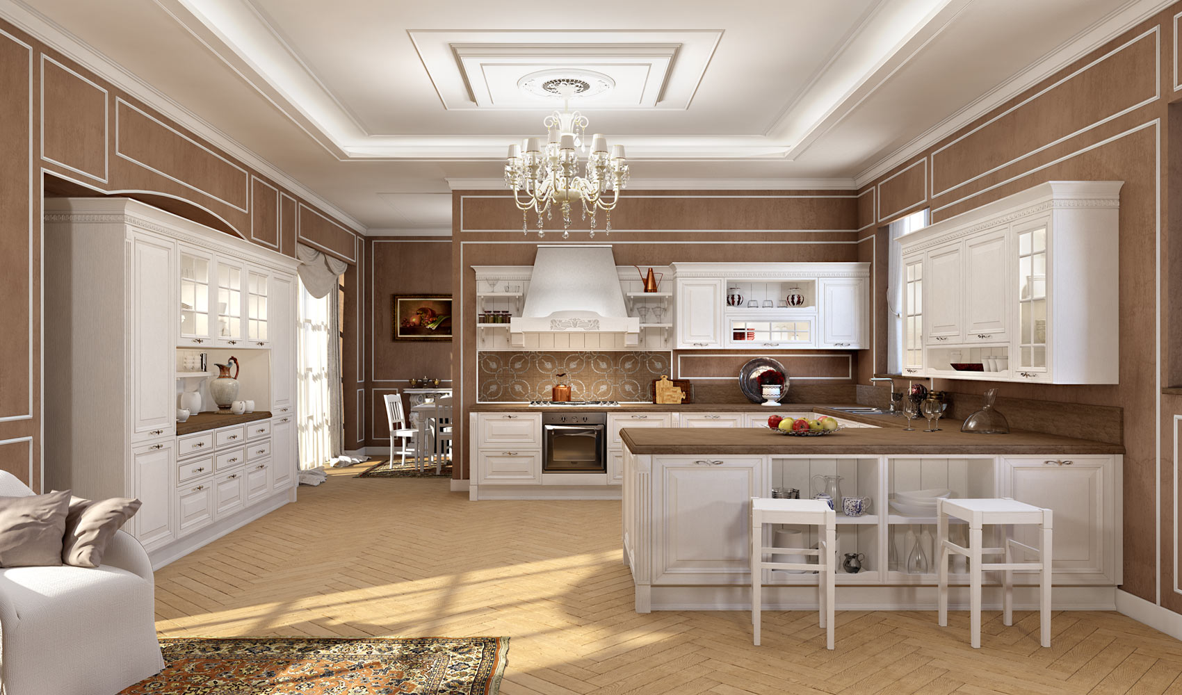 Foto di cucine classiche good dettaglio cucina stosa - Cucine classiche immagini ...